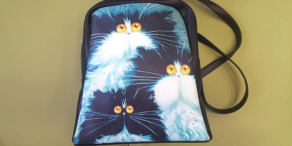 Женский рюкзак с изображением животных