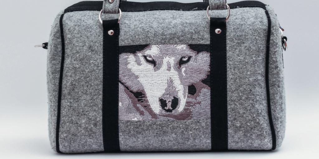 Стильная сумка с изображением животных