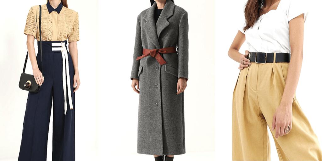 Стилисты советуют носить осенью 2019 пальто и широкие брюки с ремнями