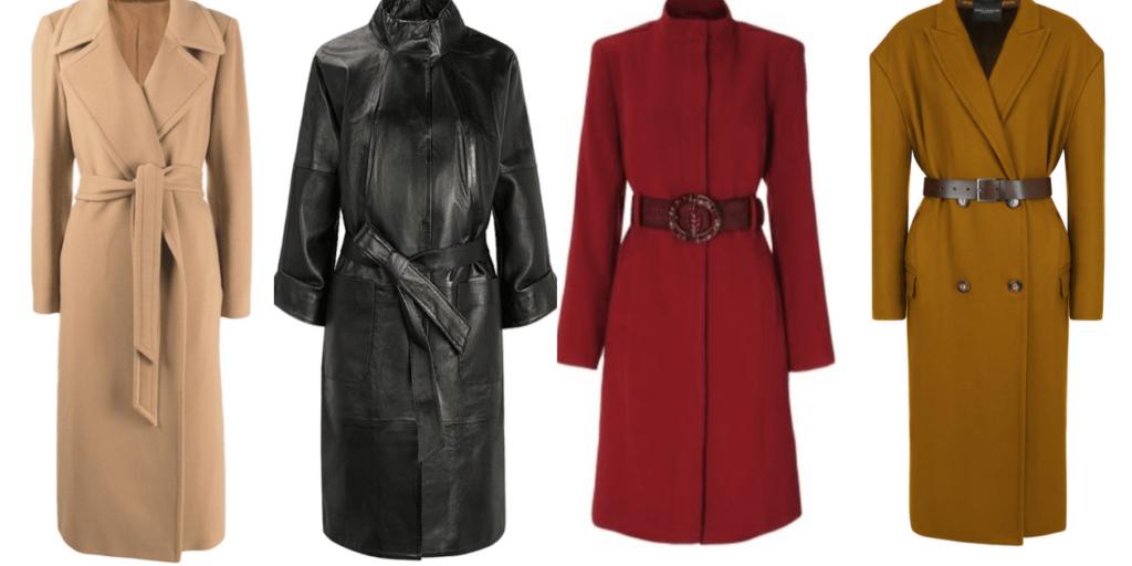 Популярностью обещают пользоваться коричневый, песочный, бордовый, бежевый, серый, черный и оранжевый оттенки пальто