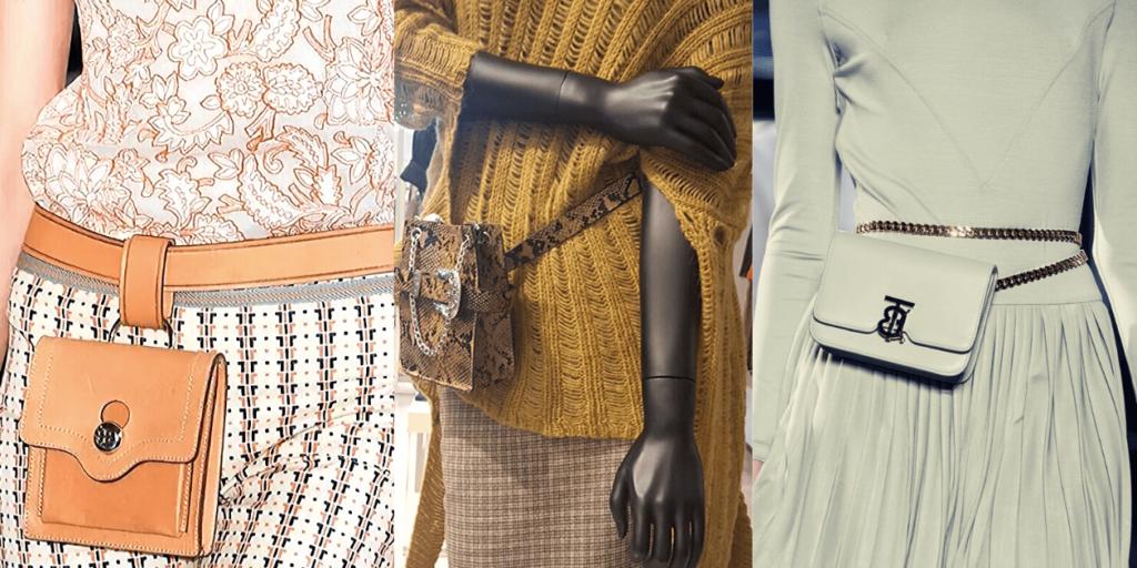 Остромодные поясные сумочки смотрятся стильно и эффектно