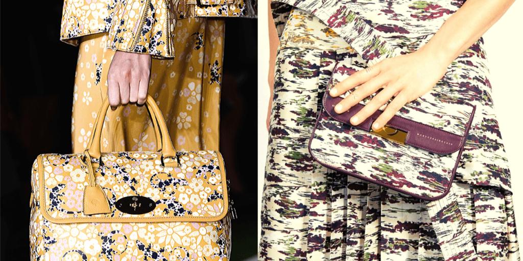 Предложение модных дизайнеров - сумочка, совпадающая по принту с одеждой - не теряет своей актуальности и в сезоне осень -зима 2019 - 2020.