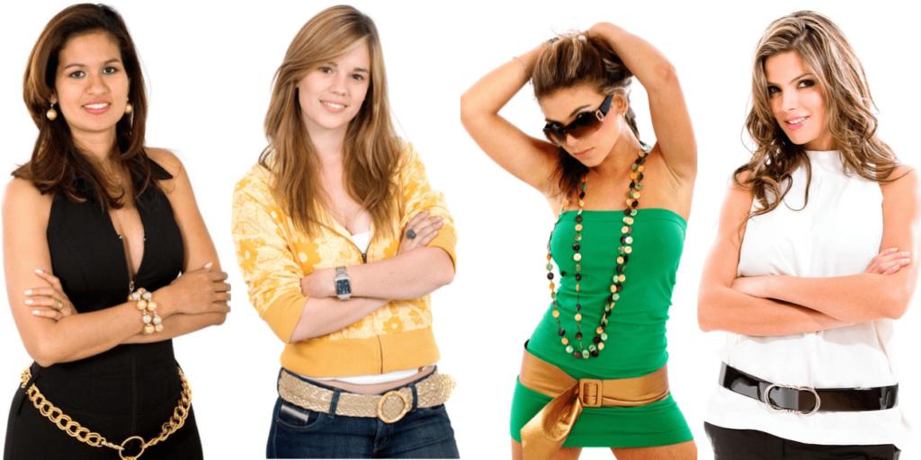Ремни можно носить на бедрах и на талии, это позволяет визуально корректировать фигуру