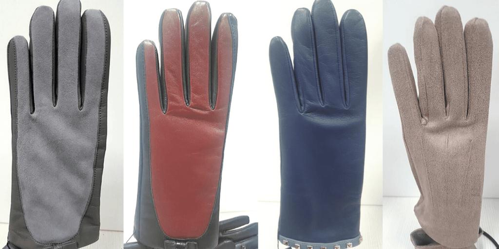 Кожаные женские перчатки модных цветов сезона осень-зима 2019-2020