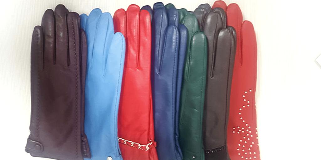 Перчатки женские для зимы, кожаные, замшевые, ярких цветов