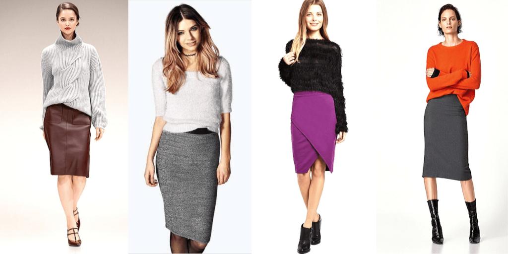 Мода осень-зима 2019-2020 : юбки-карандаш и джемперы оверсайз