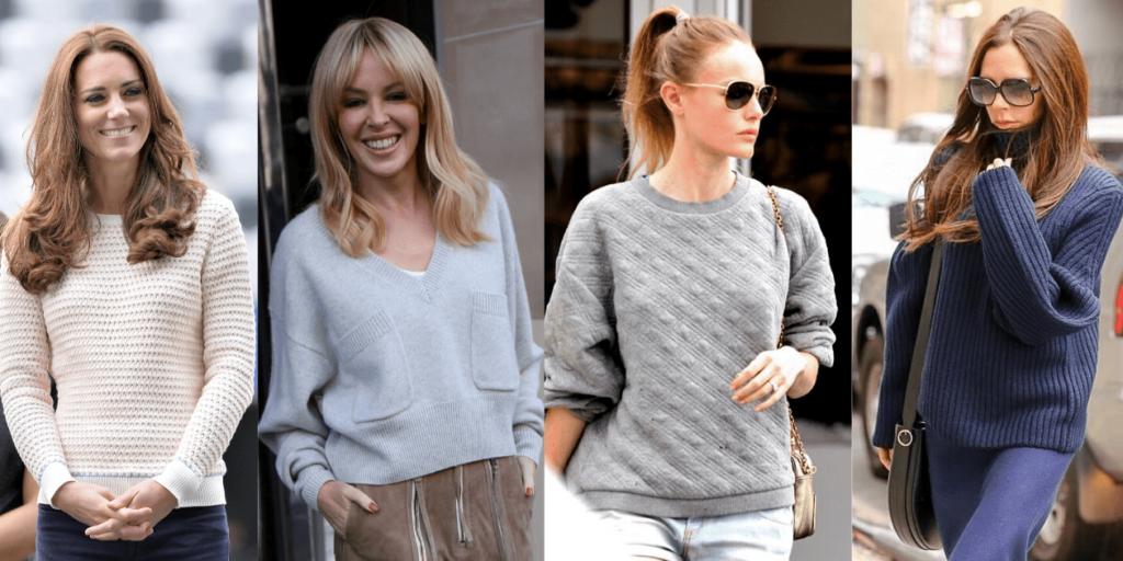 Модные свитера-оверсайз, стильные образы знаменитостей