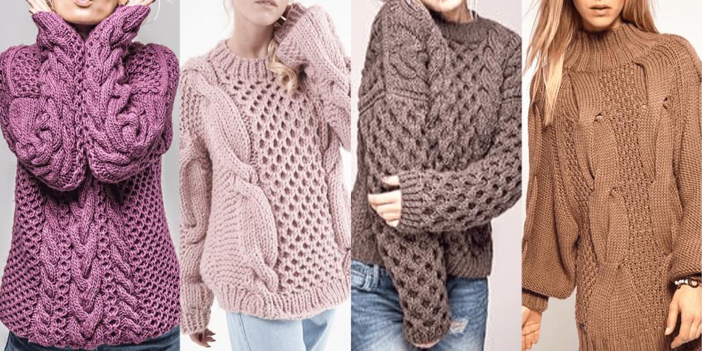 Модные свитеры 2019-2020 крупной вязки - мягкие, теплые, уютные.