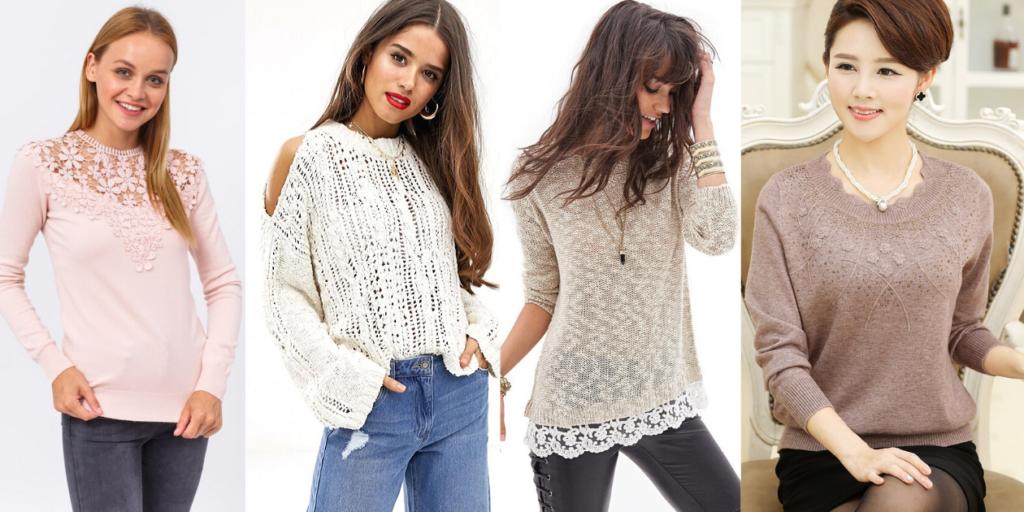 Стильный свитер можно носить как в повседневной жизни, так и надевать его на праздник.