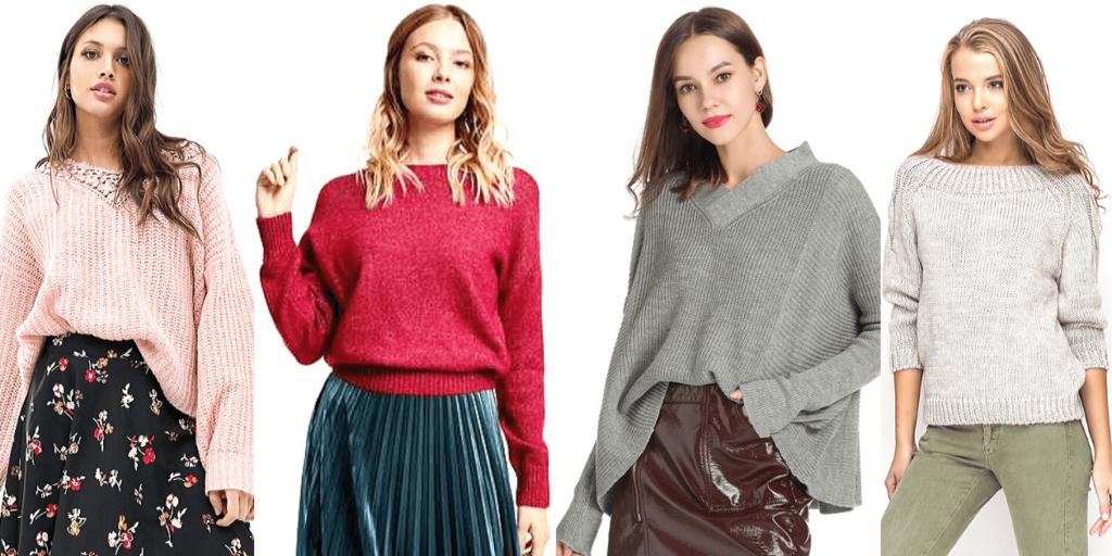Стилисты советуют носить модные свитеры осень - зима 2019-2020 с узкими джинсами скинни, с брюками и с юбками