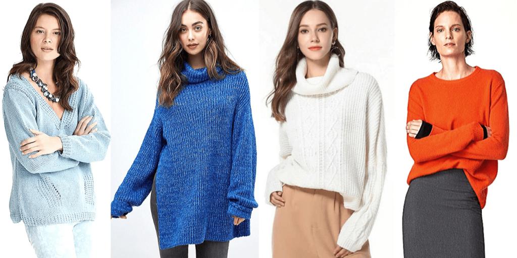Однотонные, уютные женские свитеры-оверсайз удобно носить как с брюками, джинсами, так т с юбками