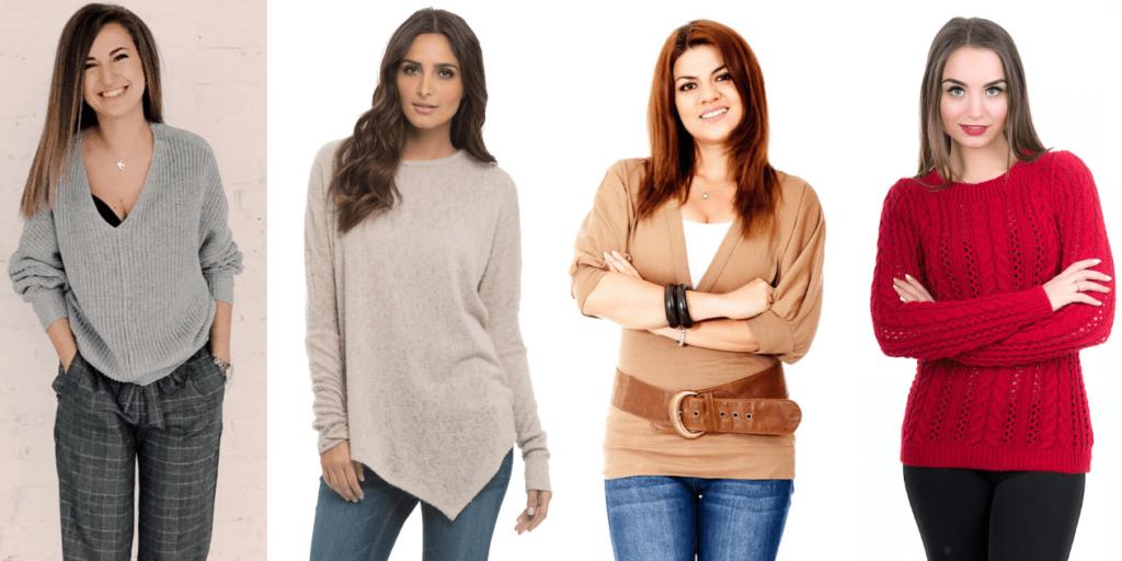 Тонкие шерстяные свитера помогут создать стильный образ и согреют в непогоду