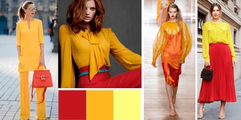 Фото образов : сочетание оранжевого, красного и желтого