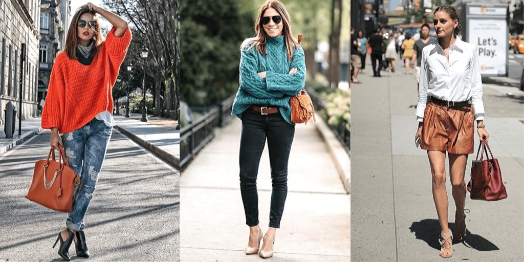Фото модных луков 2020 со стильными сумками