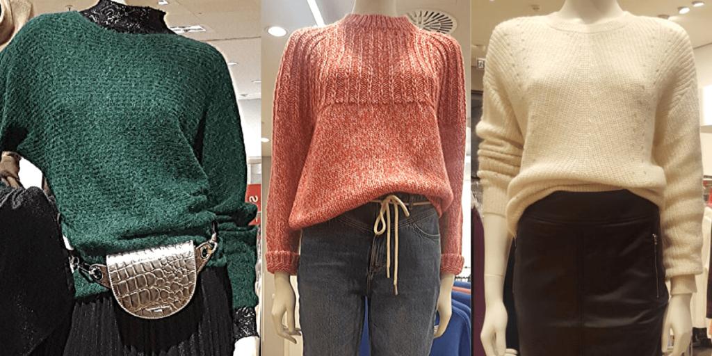 Стильные джемперы 2020, луки с юбками и брюками
