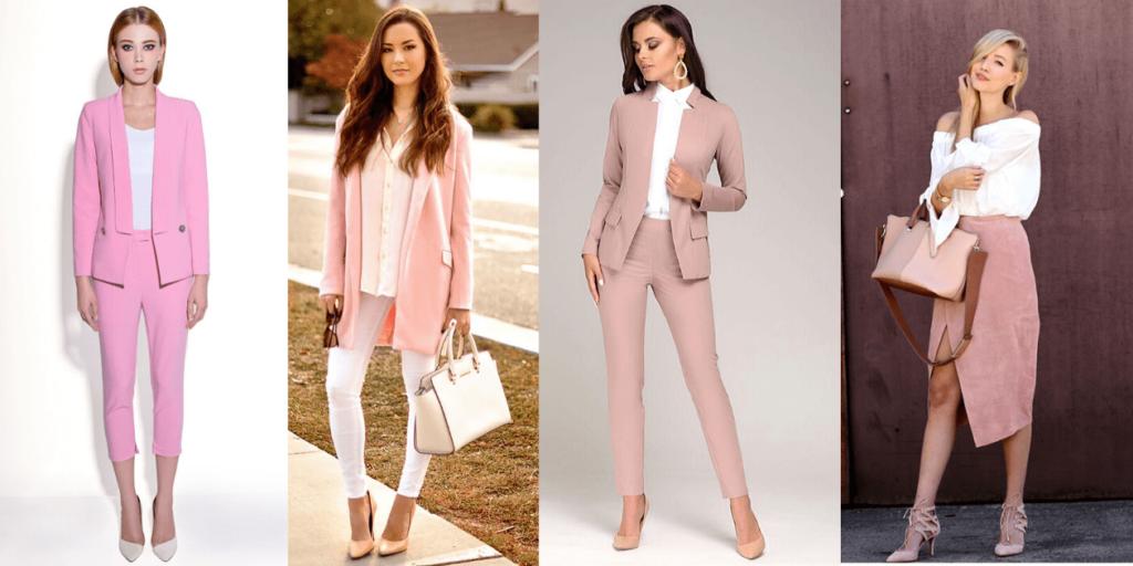 Сочетание розового и белого в образе, фото (4) модных образов