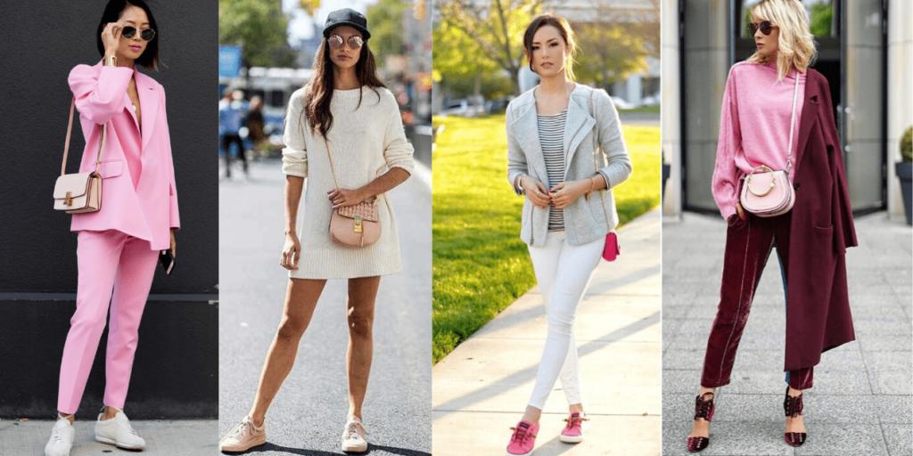 Фото стильных образов с модными маленькими сумками