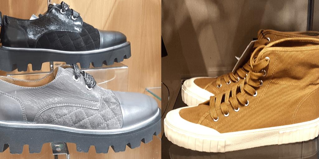 Кеды и туфли на толстой подошве в межсезонье дополняют образы в спортивном стиле