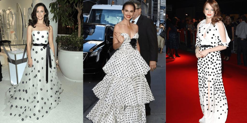 Фото знаменитостей в платьях с гороховым принтом