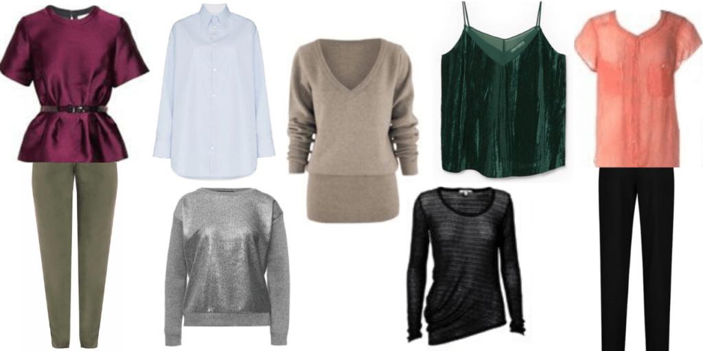 Блузы и джемпера к брюкам помогут составить многочисленные луки на выход и на каждый день
