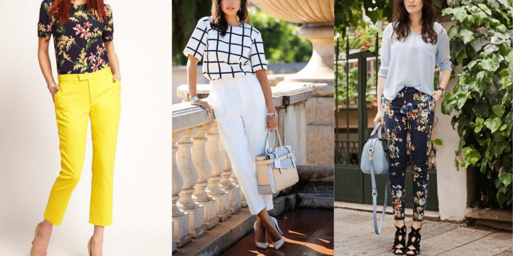 Варианты стильных луков с юбками и брюками