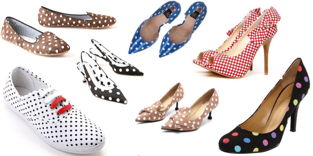 Варианты обуви с гороховым принтом