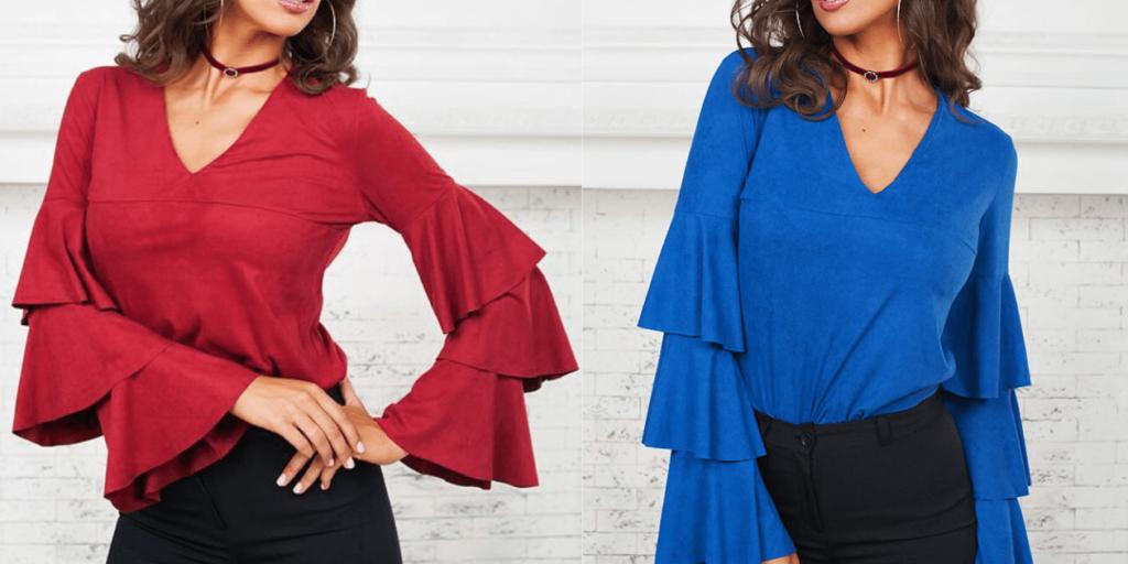 Блузы одного фасона, но различного цвета